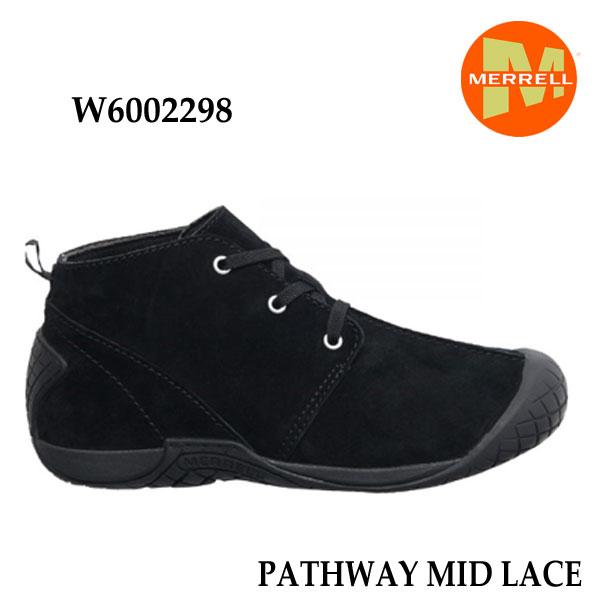 メレル W6002298 ウィメンズ パスウェイミッドレース ブラック  Merrell PATHWAY MID LACE Women's BLACK  レディース アウトドア シューズ 幅2E相当 新色