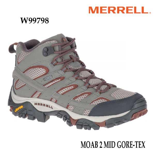 安心の丸紅フットウェア正規販売店 メレル W99798 モアブ 2 ミッド ゴアテックス Merrell MOAB 2 アウトドア 幅2E相当 GORE-TEX レディース MID 贈答品 防水 いつでも送料無料 スニーカー CHARCOAL ウィメンズ