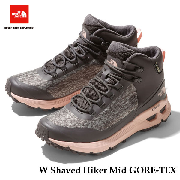 ザ ノースフェイス シェイブドゥハイカーミッド GORE-TEX(レディース) The North Face W Shaved Hiker Mid GORE-TEX NFW51930 (GP)ラビットグレー×ピーチホイップ Rabbit gray/Peach whip