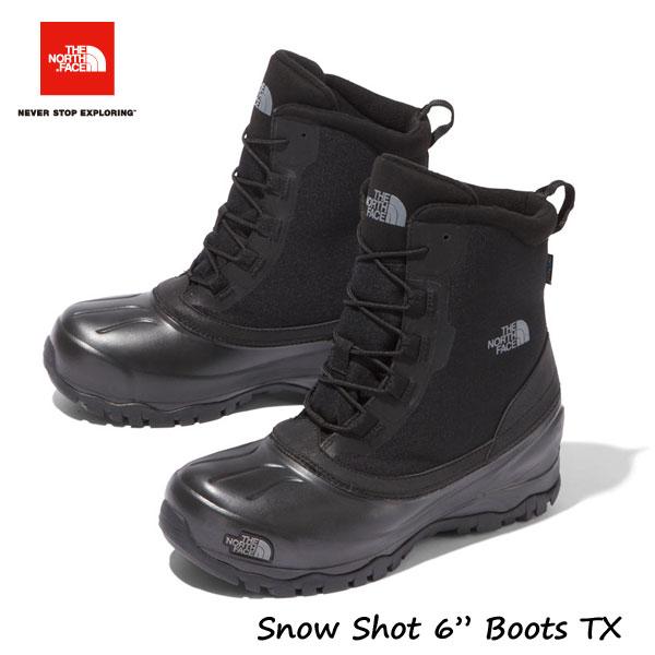 """ザ ノースフェイス NF51960 KK 26CM 27CM 28CM スノーショット6""""ブーツテキスタイルV(ユニセックス)(KK)TNFブラック×TNFブラック ※完全防水ではありません The North Face Snow Shot 6"""" Boots TX V TNF Black"""