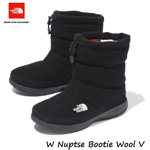 ザ ノースフェイス NFW51978 KK あす楽対応 女性用 24cm 25cm 2019-20年モデル ヌプシブーティーウールV(レディース) TNFブラック The North Face ladys W Nuptse Bootie Wool V TNF BLACK