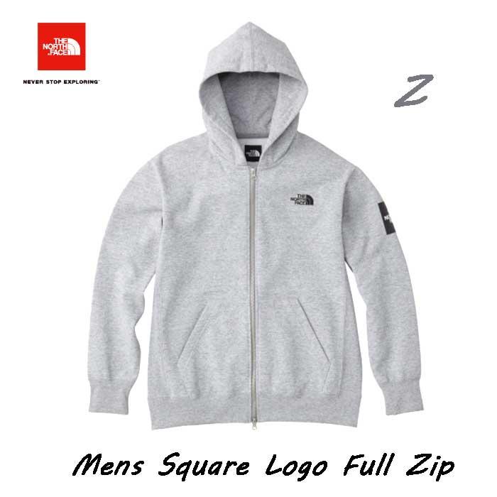 ザ ノースフェイス NT61836 (Z) 2019年秋冬最新在庫 スクエアロゴフルジップ(メンズ) ジップ付きスウェットパーカ The North Face Mens Square Logo FullZip NT61836 (Z)ミックスグレー
