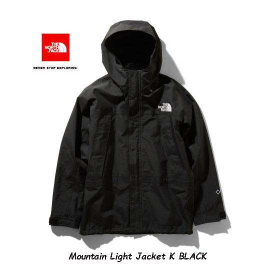 2021年秋冬最新在庫 買い取り ノースフェースGOLDWIN公式SHOP LIST掲載店 ザ ノースフェイス NP11834 K マウンテンライトジャケット メンズ The North Jacket BLACK ブラック Face 通常便なら送料無料 Light Mens Mountain