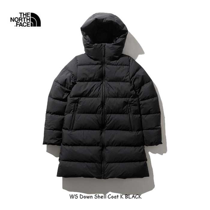 ザ ノースフェイス NDW91964 K ウインドストッパーダウンシェルコート(レディース) タウンスタイルに映える都会的なデザインながら、ハイスペックな機能性を備えたダウンコート The North Face Womens WS Down Shell Coat 2019年モデル BLACK ブラック