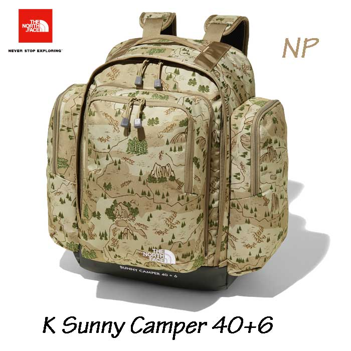 ザ ノースフェイス NMJ71700 NP キッズ サニーキャンパー40+6 バックパック/リュックサック 子供用 デイパック The North Face K Sunny Camper 40+6 (NP)ネイチャーパークプリント 無償修理対象日本正規品