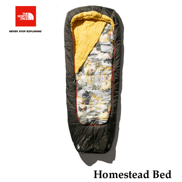 ザ ノースフェイス NBR41900 NN ホームステッドベッド The North Face Homestead Bed ニュートープグリーンドリーマープリント×ニュートープグリーン キャンプ シュラフ 寝袋
