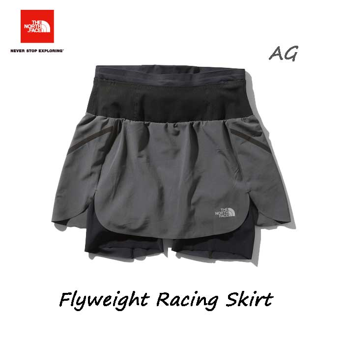 ザ ノースフェイス NBW41978 AG フライウェイトレーシングスカート(レディース) The North Face WomensFlyweight Racing Skirt NBW41978 (AG)アスファルトグレー