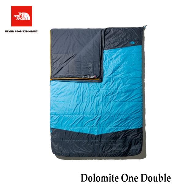 ザ ノースフェイス NBR42001 HR ドロミテ ワン ダブル The North Face Dolomite One Double ハイパーブルー×ラディアントイエロー キャンプ シュラフ 寝袋 2人用