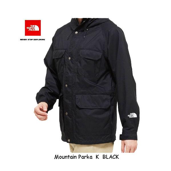 ザ ノースフェイス NP12035 K マウンテンパーカ(メンズ)ブラック パックに常備できる防水シェルとしてだけでなく、ウインドシェルとして幅広く活用できる2.5層軽量レインジャケット  The North Face Mens Mountain Parka NP12035 K BLACK