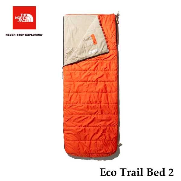 ザ ノースフェイス NBR42008 PT エコトレイルベッド2 The North Face Eco Trail Bed 2 ペルジアンオレンジ×ツイルベージュ キャンプ シュラフ 寝袋