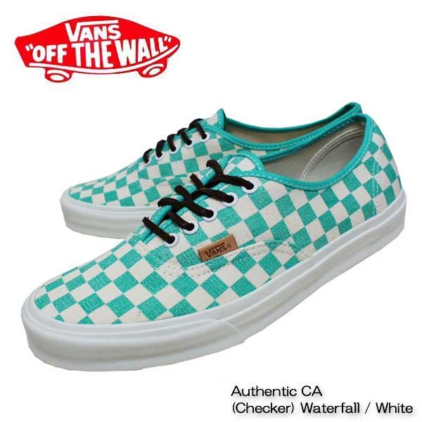 Vans sneakers /Vans sneakers authentic CA waterfall / white canvas Authentic  CA (Checker) Waterfall / White
