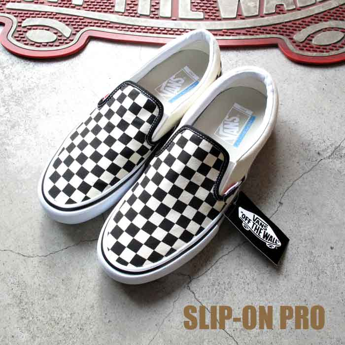 Vans station wagons slip-ons pro checkerboard black / white checker Vans  SLIP ON PRO CHECKERBOARD Black/White Checker monotone SLIP-ON sneakers