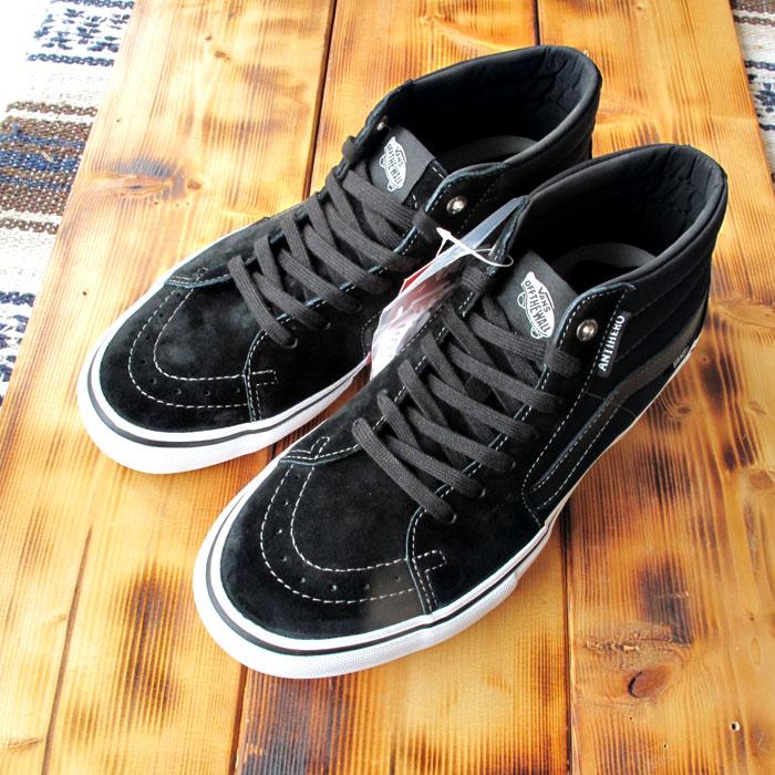 バンズ VN0A347UVGD 29cm スケート ミッド プロ アンチ ヒーロー グロッソ ブラック ヴァンズ スケート シューズ スニーカー VANS SK8 MID PRO ANTI HERO Grosso/Black