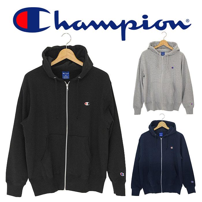 【送料無料】 チャンピオン フルジップ スウェット パーカー メンズ レディース ウィメンズ グレー ブラック ネイビー 日本企画 無地 Champion FULL ZIP SWEAT PARKA C3-LS150