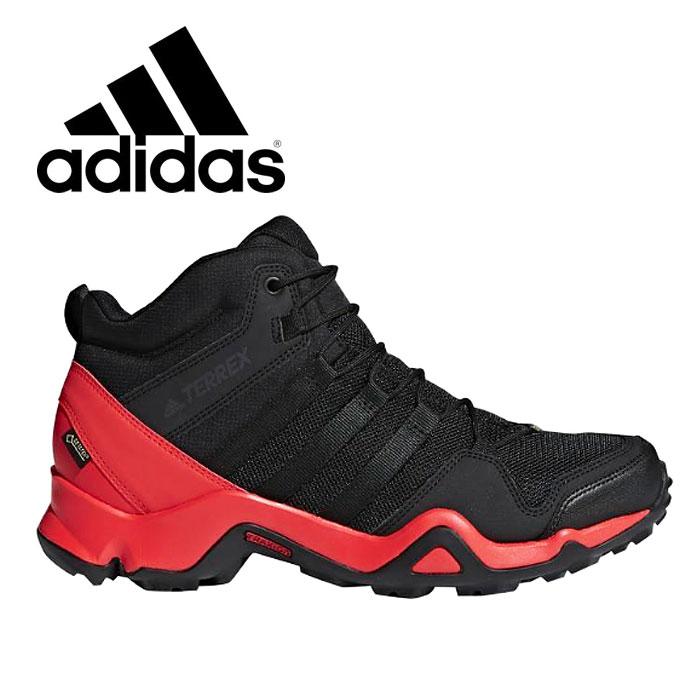 アディダス テレックス メンズ トレイルシューズ トレッキング ブーツ スニーカー ハイキング 登山 アウトドア ブラック 黒 adidas TERREX AX2R MID GTX CM7698