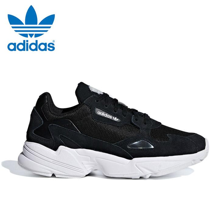 送料無料 アディダス オリジナルス ファルコン ウィメンズ レディース スニーカー 黒 ブラック シューズ 靴 adidas originals FALCON W B28129
