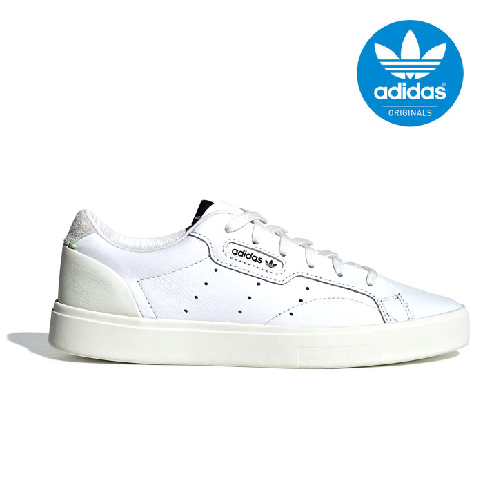 送料無料 アディダス オリジナルス スリーク ウィメンズ レディース メンズ スニーカー レザー シューズ 靴 ホワイト ナローフィット パテントレザー adidas originals SLEEK W CG6199 2019春夏新作