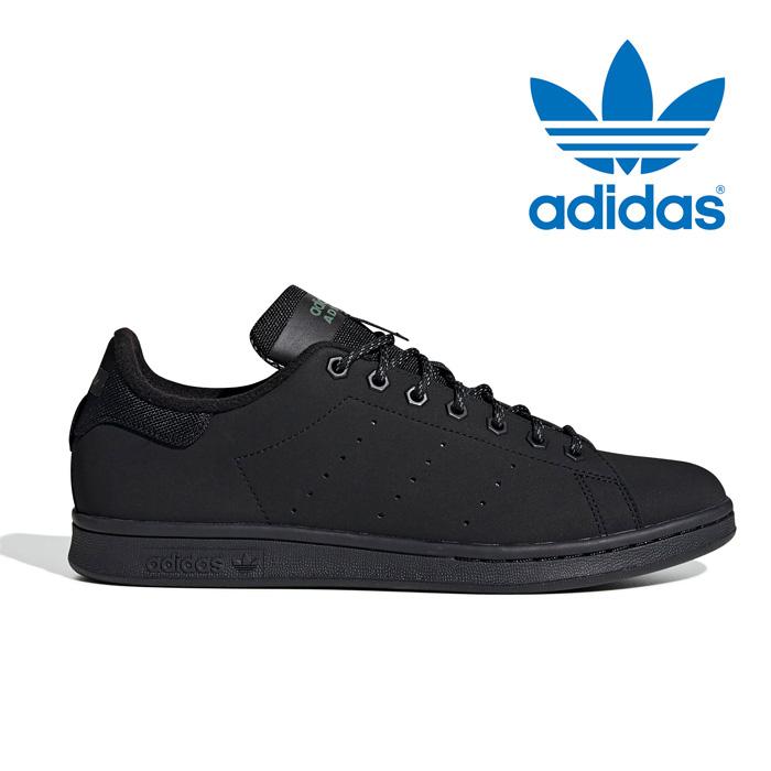 アディダス スニーカー オリジナルス スタンスミス メンズ レディース シューズ 靴 黒 ブラック 保温 裏起毛 フリース アウトドア adidas originals STAN SMITH FV4641
