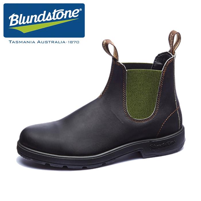 【送料無料】ブランドストーン サイドゴア レインブーツ メンズ Blundstone BS519 DARK GREEN ダークグリーン スムース レザー レインシューズ 1406 靴 くつ クツ BS519408