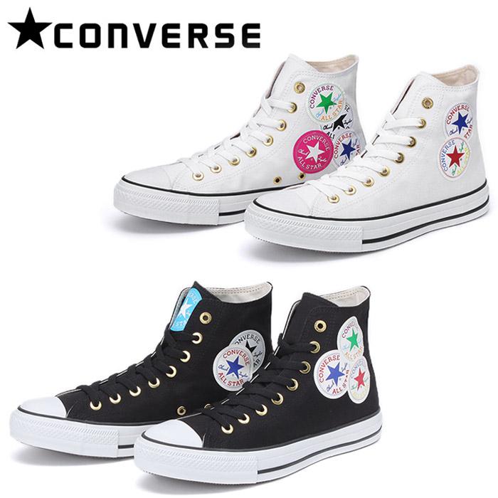 送料無料 メンズ レディース ブラック 黒 ホワイト 白 シューズ ハイカット チャックテイラー 靴 ALL STAR WEARABLE STICKER HI 31300510 31300511