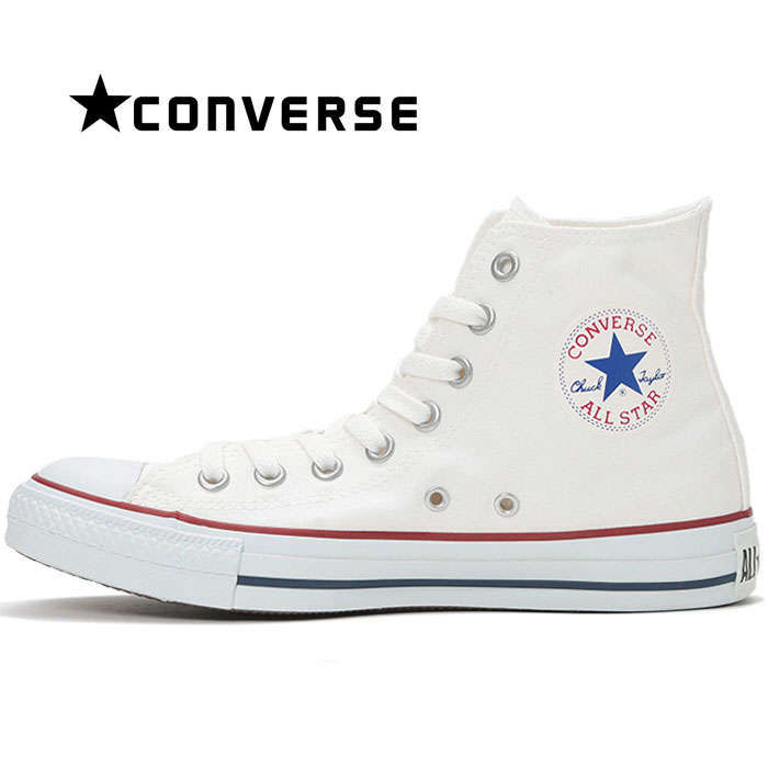 【送料無料】コンバース CONVERSE オールスター HI スニーカー レディース ウィメンズ メンズ キャンバス シューズ 定番 靴 くつ クツ ハイカット 男性 女性 白 オプティカルホワイト ALL STAR HI OPTICAL WHITE cons
