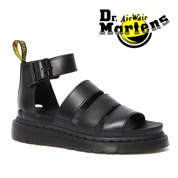 送料無料 ドクターマーチン サンダル クラリッサ2 メンズ レディース ブラック 黒 ストラップ レザー Dr.Martens CLARISSA II SANDAL 24477001 BLACK
