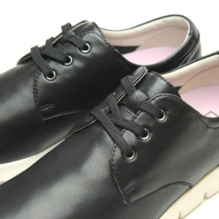 ギフト 歩きやすい 軽い おしゃれ疲れない シープスキン FIT JOY FJ-022 通学 通勤 レザーシューズ ウォーキングシューズ スニーカー 母の日 フィットジョイ 柔らかい 靴 楽ちん ブラック 旅行用 ギフト 黒 送料無料 軽量 母の日 レディース
