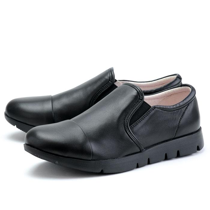 【あす楽】【即納】 【送料無料】フィットジョイ FITJOY FJ-023 オールブラック 黒 スニーカー レディース ウォーキングシューズ 軽量 レザーシューズ シープスキン 旅行用 靴 おしゃれ