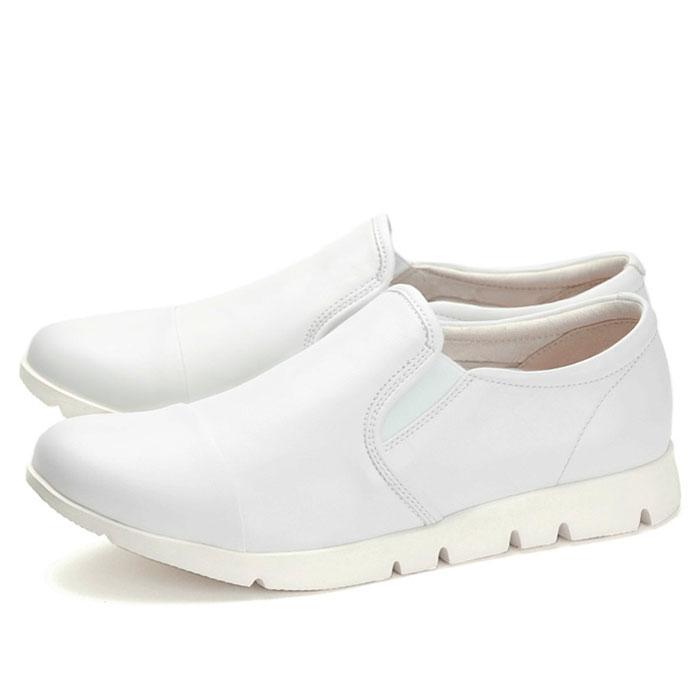【あす楽】【即納】 【送料無料】フィットジョイ FITJOY FJ-023 ホワイト 白 スニーカー レディース ウォーキングシューズ 軽量 レザーシューズ シープスキン 旅行用 靴 くつ クツ おしゃれ