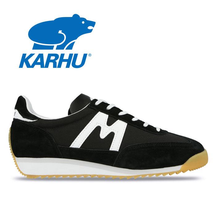 【送料無料】カルフ KARHU チャンピオンエア CHAMPIONAIR KH805003 ブラック ホワイト 黒 白 スニーカー ランニングシューズ レディース メンズ 運動靴 レトロラン