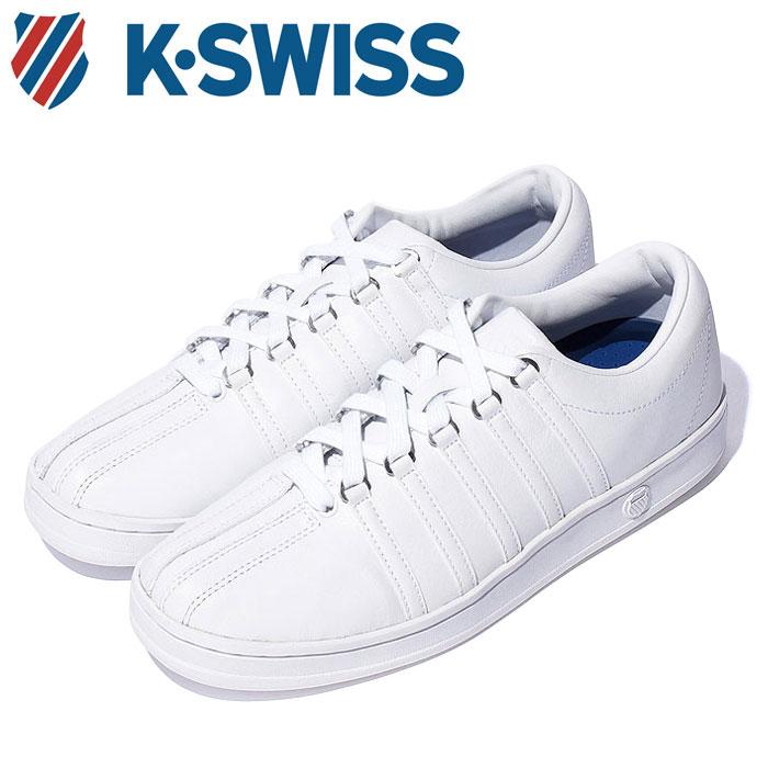 【送料無料】Kスイス ケースイス クラシック 88 メンズ レディース ウィメンズ ホワイト 白 スニーカー レザー テニスシューズ コート K-SWISS Classic 88 WHITE 36022480 靴 くつ クツ