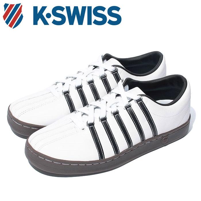【送料無料】Kスイス ケースイス クラシック 88 メンズ レディース ウィメンズ ホワイト ブラウン ガム 白 茶 スニーカー レザー テニスシューズ K-SWISS Classic 88 36022487 靴 くつ クツ