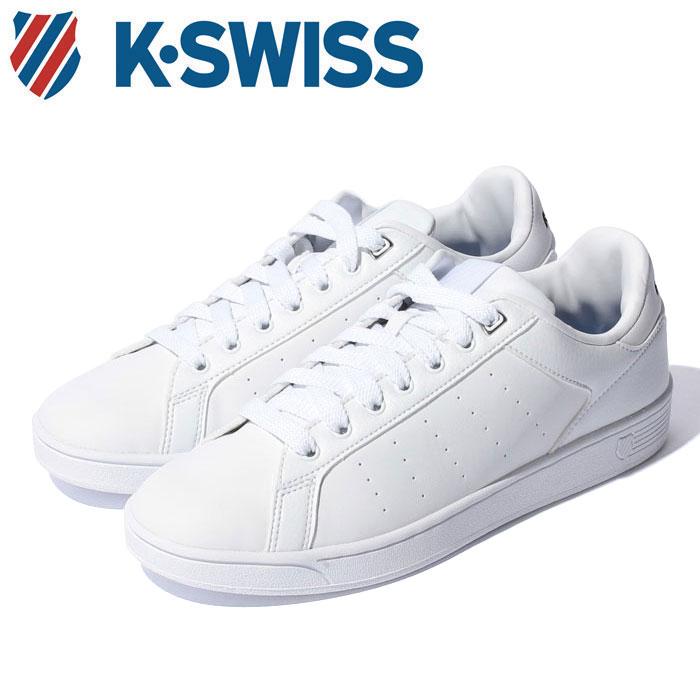 【送料無料】Kスイス ケースイス クリーン コート S CFT メンズ レディース ウィメンズ ホワイト ブラック 白 黒 ローカット スニーカー テニスシューズ シンセスティックレザー K-SWISS CLEAN COURT S CMF 36054340 靴 くつ クツ