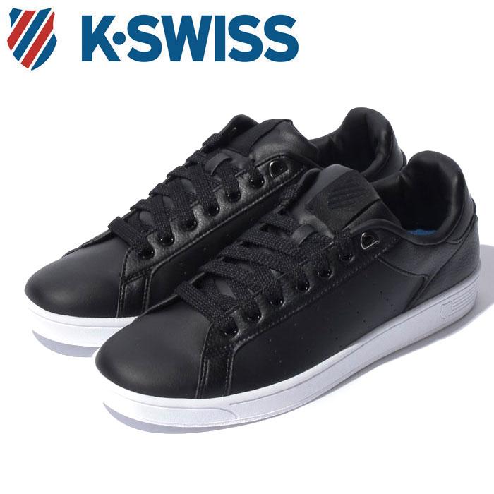 送料無料 Kスイス ケースイス クリーン コート S CFT メンズ レディース ウィメンズ ブラック 黒 ローカット スニーカー テニスシューズ シンセスティックレザー K SWISS CLEAN COURT S CMF BLACK 36054341 靴 くつ クツlJF1cTK