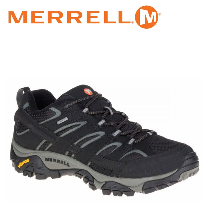 メレル MERRELL モアブ 2 ゴアテックス MOAB 2 GORE-TEX メンズ トレッキングシューズ ローカット ブラック 黒 BLACK M06037 靴 くつ クツ