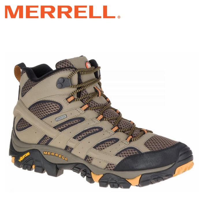 メレル MERRELL モアブ 2 ミッド ゴアテックス ワイド ワイズ MOAB2 MID GORE-TEX WIDE WIDTH メンズ トレッキングシューズ ハイカット ベージュ ウォルナット WALNUT M06057W 靴 くつ クツ