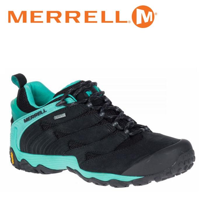 メレル MERRELL カメレオン 7 ゴアテックス CHAMELEON 7 GORE-TEX レディース ウィメンズ トレッキングシューズ ローカット 黒 ブルー アイス ICE W39884 靴 くつ クツ