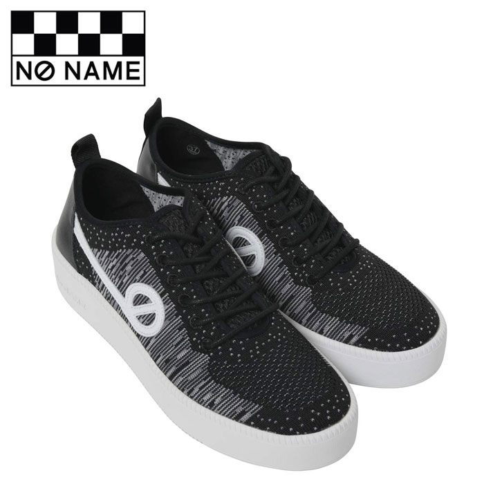 【送料無料】ノーネーム スニーカー ジャバ レディース 黒 ブラック NO NAME JAVA-71518 BLACK ニットスニーカー レザー フラットスニーカー シューズ 靴 くつ クツ