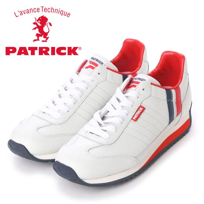 送料無料 パトリック スニーカー マラソン・レザー トリコロール 98800 メンズ レディース 定番モデル 日本製 男性 女性 PATRICK MARATHON-L TRC 98800 靴 くつ