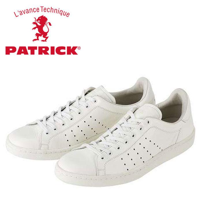 送料無料 パトリック パンチ 14 スニーカー ホワイト 14100 メンズ レディース 定番モデル 日本製 WHITE 男性 女性 PATRICK PUNCH 14 WHITE 靴 くつ