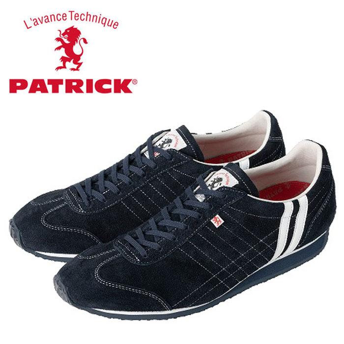 送料無料 パトリック アイリス スニーカー ネイビー 528892 メンズ レディース 定番アイテム 日本製 ベロア レザー 男性 女性 PATRICK IRIS-VR NAVY 靴 くつ
