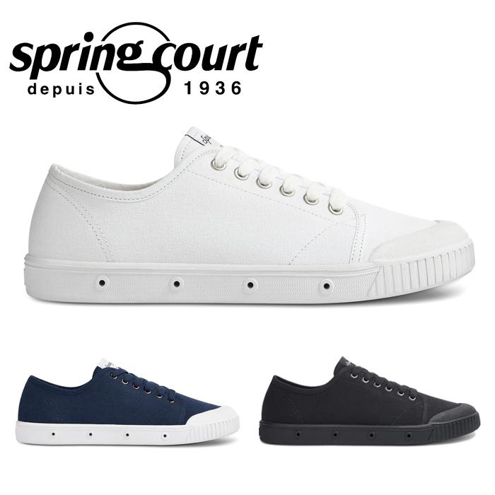 【送料無料】SPRING COURT スプリングコート G2 CANVAS キャンバス ホワイト 白 ミッドナイトブルー 青 ブラック 黒 スニーカー ローカット レディース ウィメンズ コートシューズ G2S-V1 靴 くつ クツ