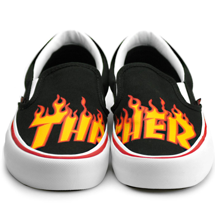 VANS THRASHER SLIP ON PRO slasher slip ons sneakers men gap Dis vans station wagons VN0A347VOTE black