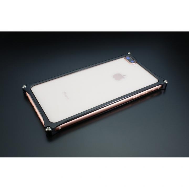 ギルドデザイン ソリッドバンパー ポリッシュブラック iPhone 8 Plus/7 Plus