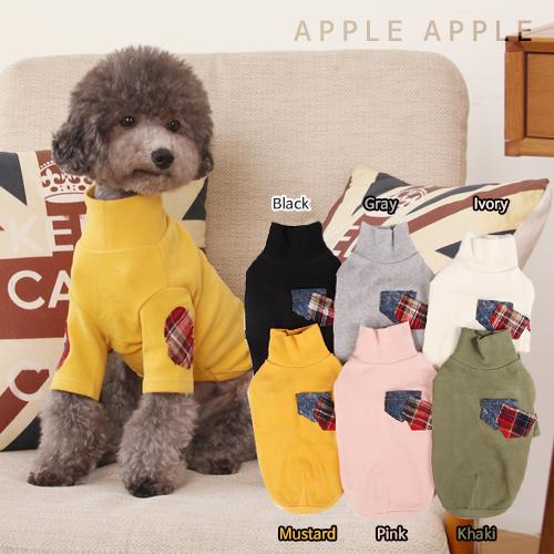 【40%OFF】※メール便OK!1枚まで♪エルボーパッチTシャツ☆APPLEAPPLE★アップルアップル 【ドッグウェア】【ドッグウエア】【犬服】【犬 服】【犬の服】【秋冬物】【犬Tシャツ】