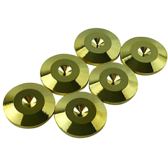 ストア 音質改善と振動抑制に効果を発揮するスパイク受け インシュレーター スピーカー スパイク受け B 新発売 6個セット 送料無料 ゴールド