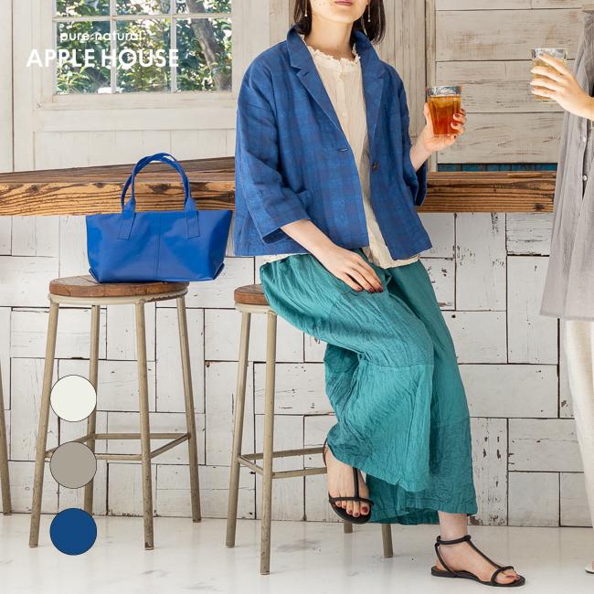 レディース サマージャケット 七分袖 テーラードカラー 羽織り 日本製 裏地なし 水洗い可能 ナードシャツジャケット アップルハウス