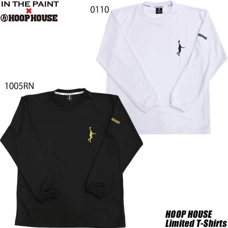 コラボTシャツ IN THE PAINT インザペイント フープハウスオリジナル ワンポイント ロンT 日本メーカー新品 itp1656hh ロングスリーブ 即納最大半額 itphh バスケットボール 長袖Tシャツ