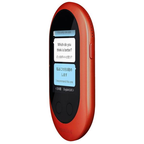 (ポイント最大24倍+最大1200円OFFクーポン配布中)ポケトークW 本体 レッド+グローバル通信2年SIM 翻訳機 W1PGR スペシャル4点セット