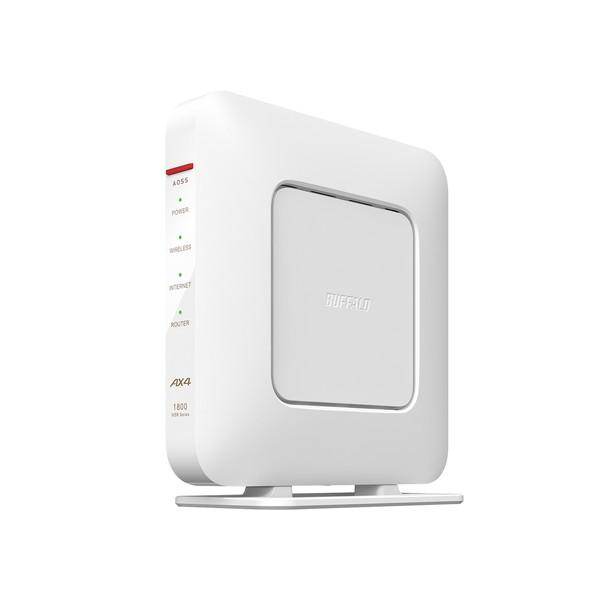 無線LANルーター Wi-Fiルーター 18%OFF バッファロー BUFFALO AirStation WSR-1800AX4S-WH 即日出荷 ホワイト 無線LAN規格:IEEE802.11a b g n ac 5人 接続環境:2階建て 3LDK WSR1800AX4SWH 4981254058671 戸建て 14台 マンション ax